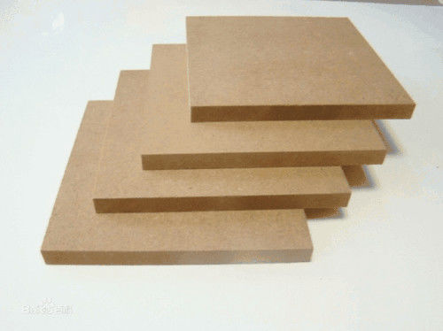 Moisture Proof Indoor Laminated MDF Board With E0 WBP Glue 2-30mm Thickness