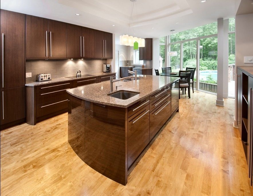 Luxury Customized Particle Board Kitchen Cabinets Lacquer Calacatta Quartz Countertops