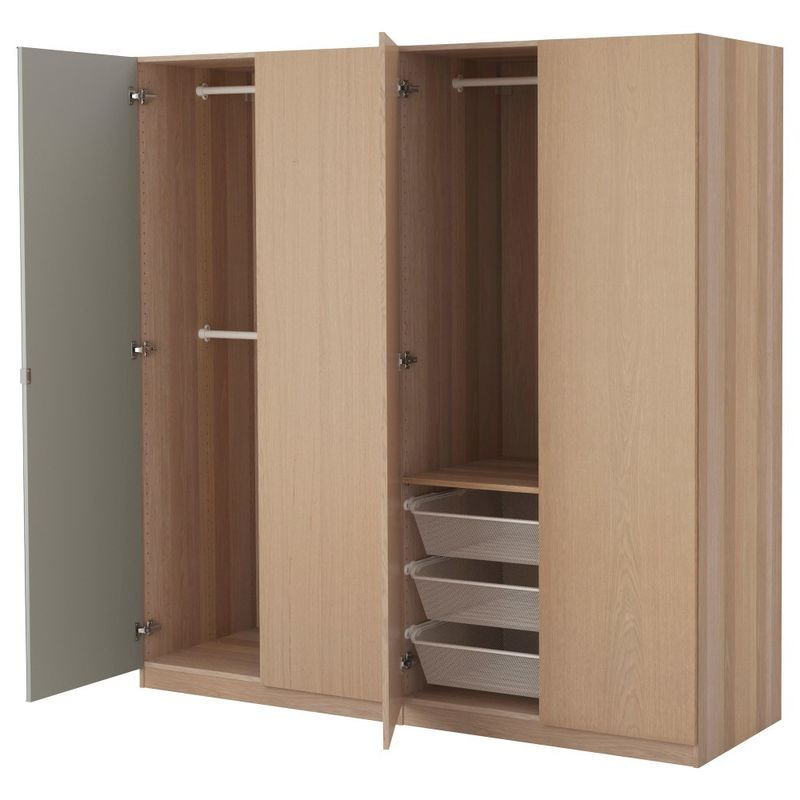 Moisture Resistant MDF Particle Board Wardrobe For Modular Bedroom Furniture