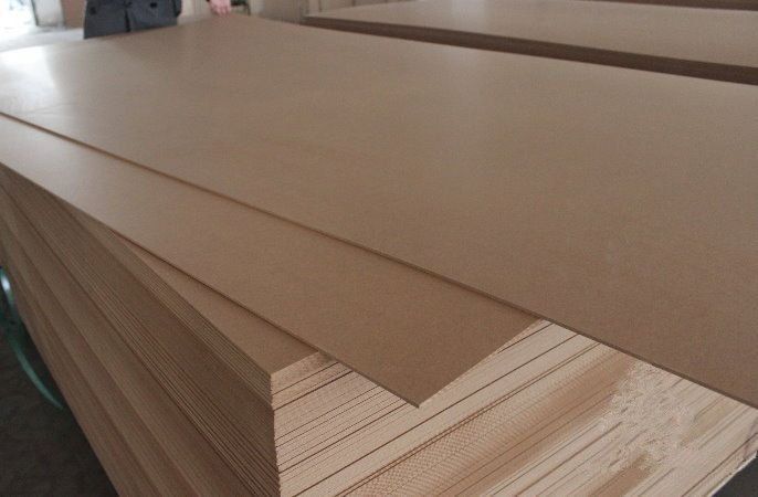 High Density MDF Furniture Board / Wood MDF Veneer Sheets 10-25mm Thickness