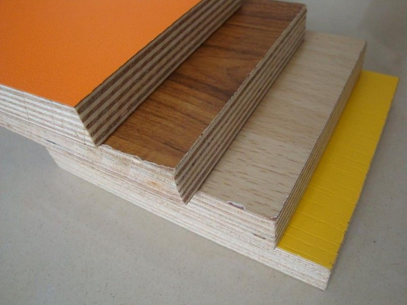 Furniture Grade 18mm Melamine Plywood Board Sheets With Melamine Finish