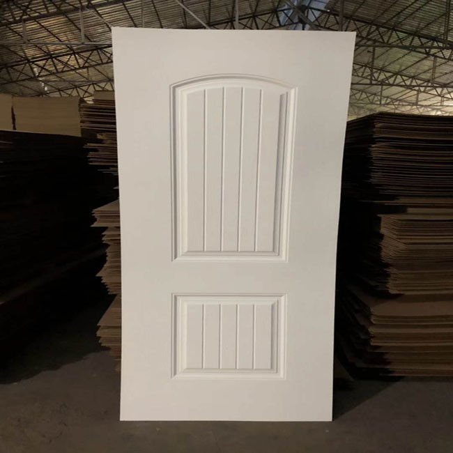 Environmental Friendly White Faced Hdf Door Skin For Exterior House Decoration