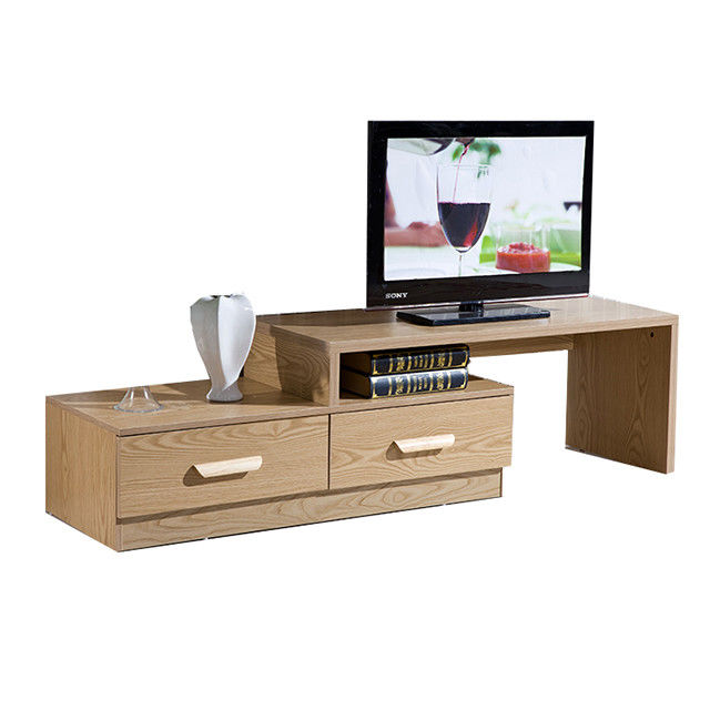 Modern Design Living Room Solid Wood Tv Unit Laminate Particle Board For Multi Function